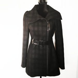 Mackage Aura Plaid Wool Jacket